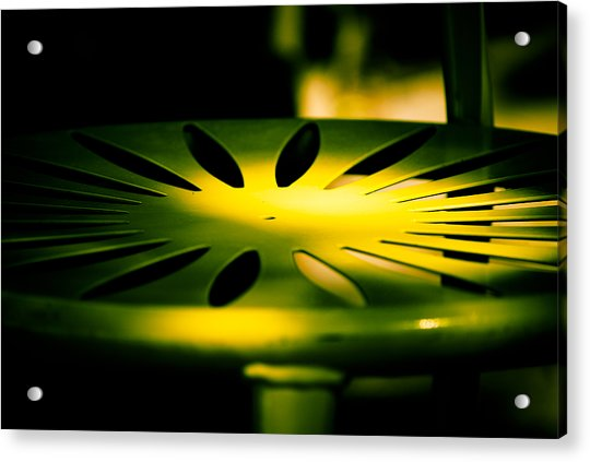 Green And Gold Acrylic Print