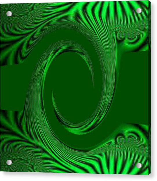 Green Fabric Acrylic Print