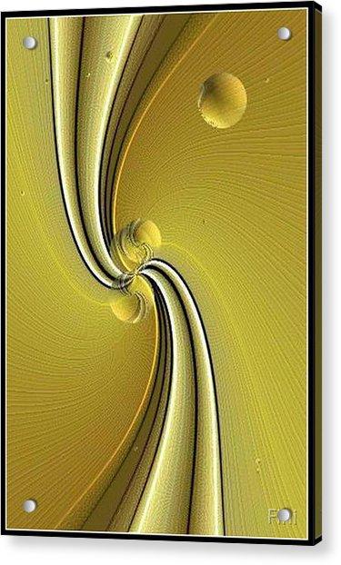 Green Fold Acrylic Print