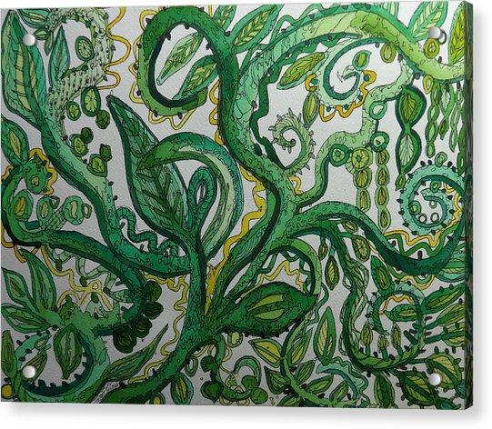 Green Meditation Acrylic Print