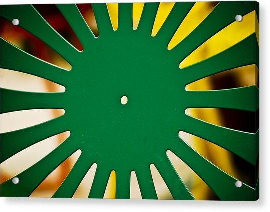 Green Memorial Union Chair Acrylic Print