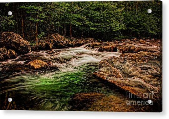 Green Water  Acrylic Print