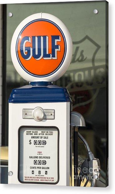 Gulf Oil Gas Pump Acrylic Print