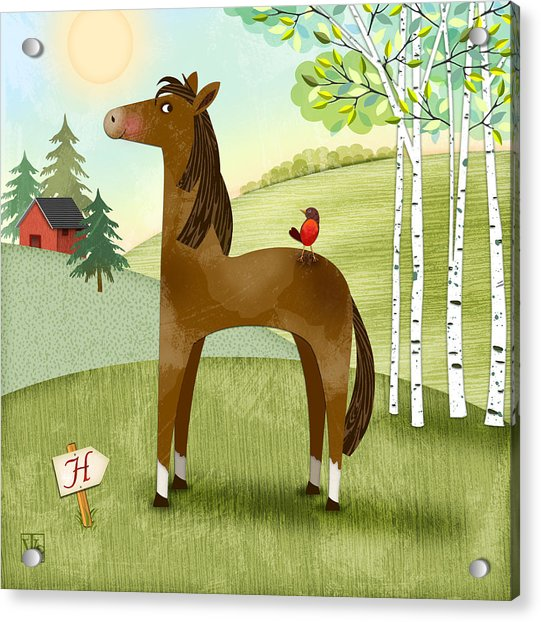 H Is For Henry The Horse Acrylic Print