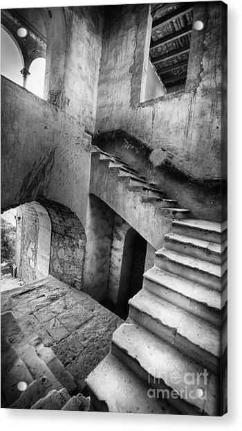 Hacienda Stairwell Acrylic Print