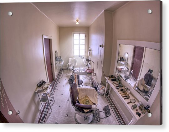 Acrylic Print featuring the photograph Hair Dressing Room At Fordyce Bath House - Hot Springs - Arkansas by Jason Politte