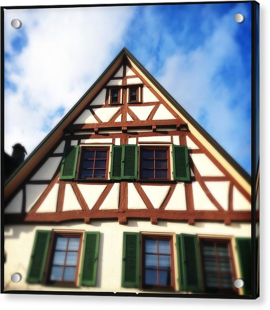 Half-timbered House 02 Acrylic Print by Matthias Hauser