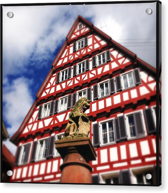 Half-timbered House 07 Acrylic Print by Matthias Hauser