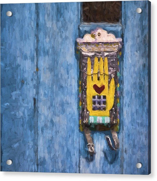 Hand-painted Mailbox Painterly Effect Acrylic Print
