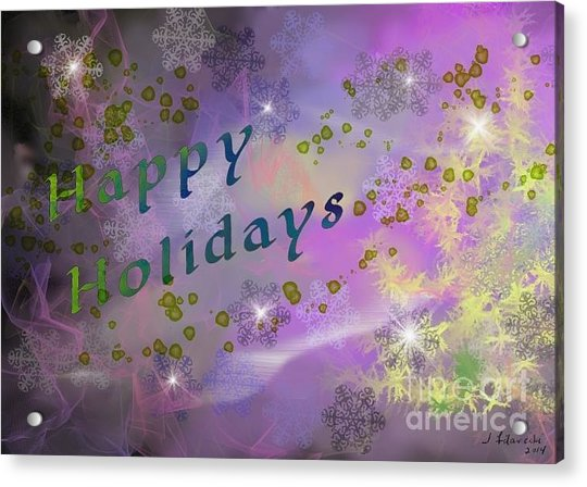 Happy Holidays Card Acrylic Print by Judy Filarecki