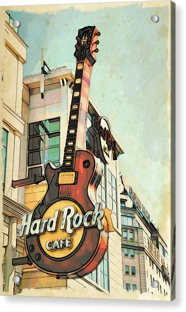 Acrylic Print featuring the photograph Hard Rock Guitar by Alice Gipson