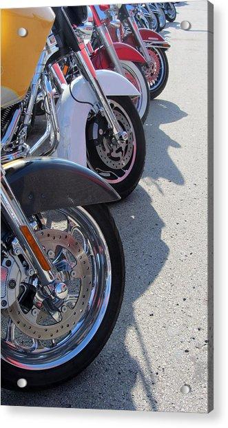 Harley Line Up 1 Acrylic Print