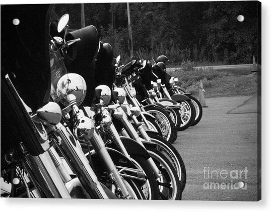 Harleys All In A Row Acrylic Print