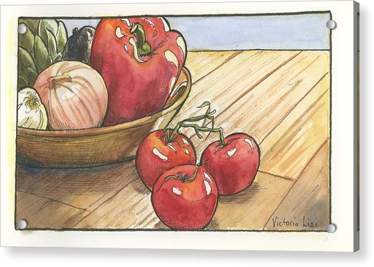 Harvest Table Acrylic Print