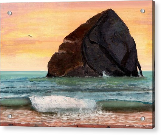 Haystack Rock At Kiwanda Acrylic Print