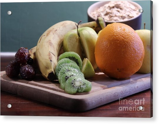 Healthy Breakfast Fruits And Cereals Acrylic Print
