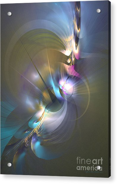 Heart Of Dragon - Abstract Art Acrylic Print