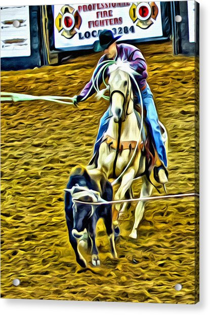 Acrylic Print featuring the photograph Heeling by Alice Gipson