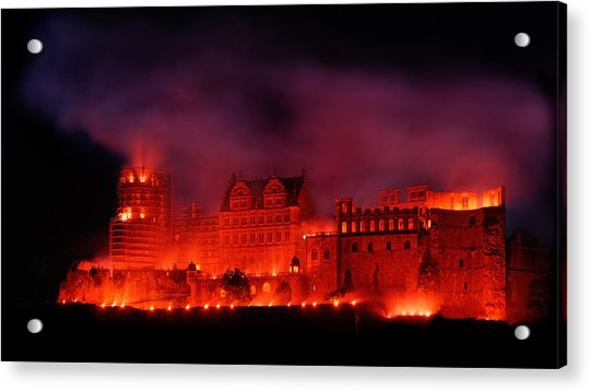 Heidelberg Red Castle Acrylic Print