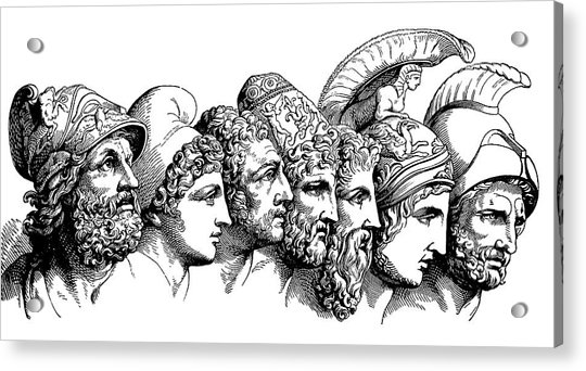 Heroes Of The Trojan War Acrylic Print by Bildagentur-online/th Foto/science Photo Library