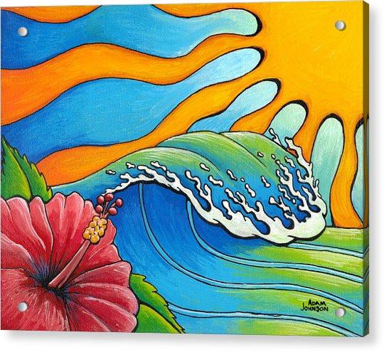 Hibiscus Wave Acrylic Print