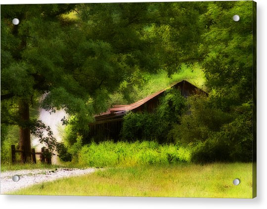 Hidden Down The Road Acrylic Print