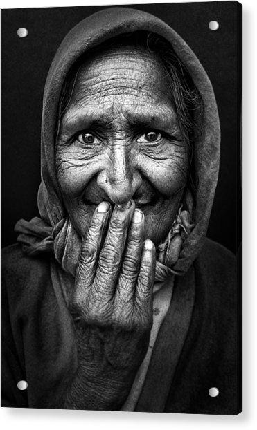 Hidden Smile Acrylic Print