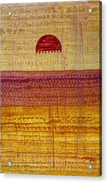High Desert Horizon Original Painting Acrylic Print