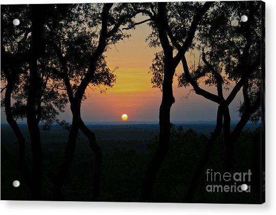 Hilltop Sunset Acrylic Print