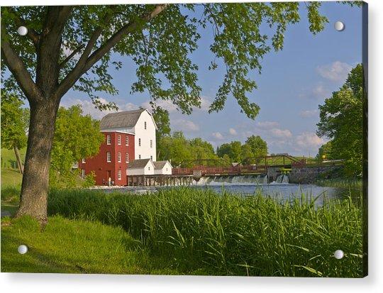 Historic Flour Mill By A River Acrylic Print