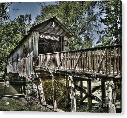 Historic Kymulga Covered Bridge Acrylic Print