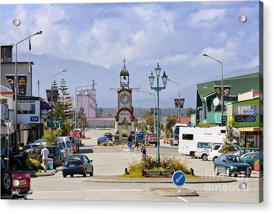Hokitika Street Scene West Coast New Zealand Acrylic Print