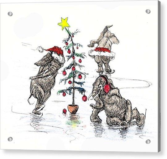Holiday Ice Acrylic Print