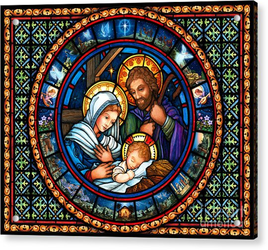 Holy Family Christmas Story Acrylic Print
