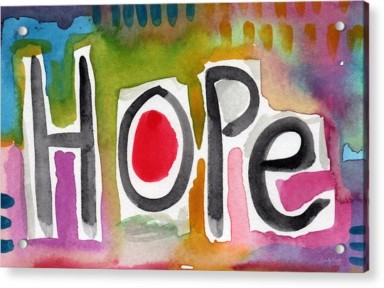 Hope- Colorful Abstract Painting Acrylic Print
