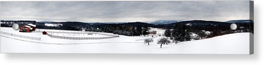 Horse Barn In The Winter Acrylic Print