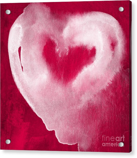 Hot Pink Heart Acrylic Print