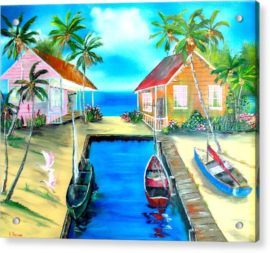 Houses On The Canal Acrylic Print