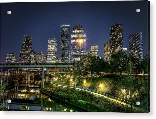 Houston On The Bayou Acrylic Print