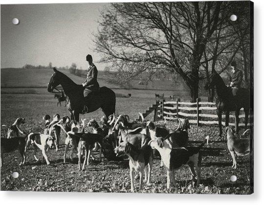 Huntsman Alfred Smithwick Sitting On His Horse Acrylic Print