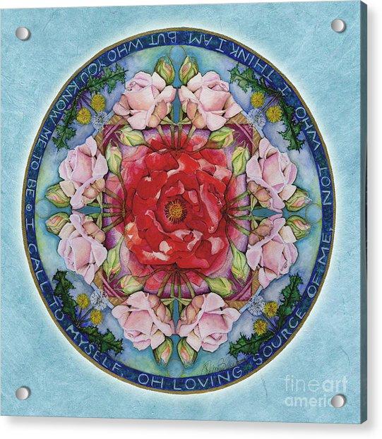 I Am That Mandala Acrylic Print