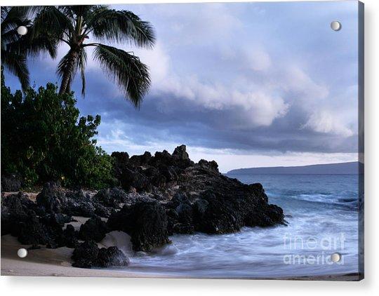 I Ke Kai Hawanawana Eia Kuu Lei Aloha - Paako Beach Maui Hawaii Acrylic Print