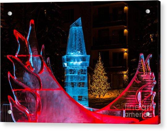 Ice Tower And Xmas Tree Acrylic Print