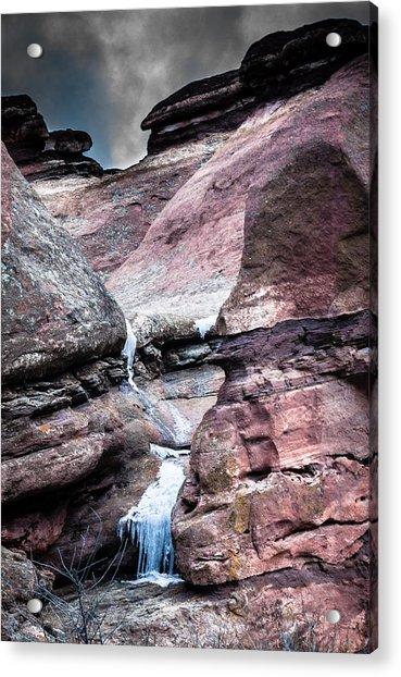 Icy Red Rocks  Acrylic Print