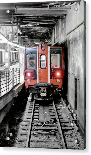 I'm Leaving On A Train Acrylic Print