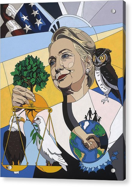 In Honor Of Hillary Clinton Acrylic Print