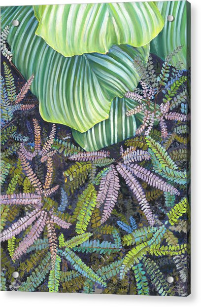 In The Conservatory - 4th Center - Green Acrylic Print