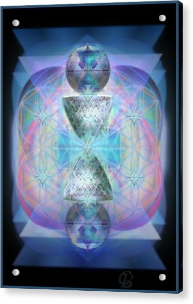 Indigoaurad Chalice Orbing Intwined Hearts Acrylic Print by Christopher Pringer