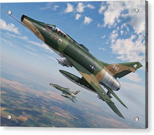 Iowa's Bicentennial Warriors F-100 Super Sabres Acrylic Print