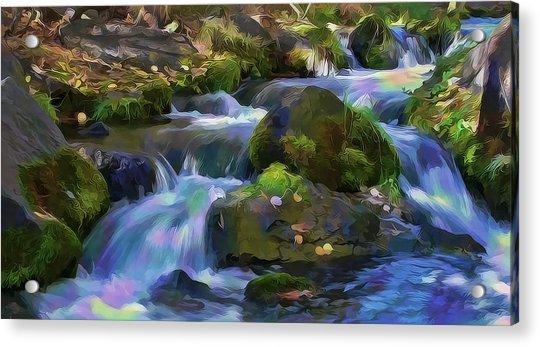 Iridescent Creek By Frank Lee Hawkins Acrylic Print